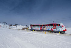 A driving funicular in Davos Stock Image