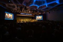 Davos World Economic Forum Annual, der 2015 sich trifft Lizenzfreie Stockbilder