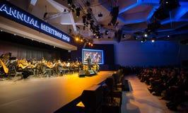 Davos World Economic Forum Annual, der 2015 sich trifft Lizenzfreies Stockbild