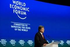 Davos World Economic Forum Annual, der 2015 sich trifft Stockfoto