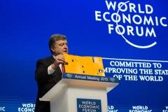 Davos World Economic Forum Annual, der 2015 sich trifft Stockfotografie