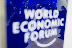 Davos World Economic Forum Annual Meeting 2015 Royalty Free Stock Image