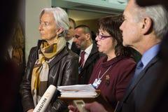 Davos World Economic Forum Annual que encuentra 2015 Imagen de archivo