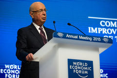 Davos World Economic Forum Annual que encuentra 2015 Foto de archivo
