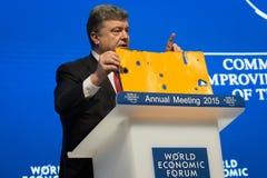 Davos World Economic Forum Annual rencontrant 2015 Photographie stock libre de droits
