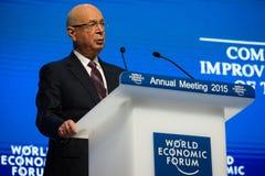 Davos World Economic Forum Annual-Vergadering 2015 Stock Foto