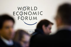 Davos World Economic Forum Annual-Vergadering 2015 Royalty-vrije Stock Foto