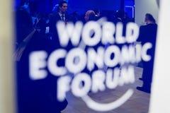 Davos World Economic Forum Annual-Vergadering 2015 royalty-vrije stock afbeelding