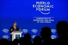 Davos World Economic Forum Annual-Vergadering 2015 Stock Fotografie
