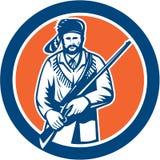 Davy Crockett amerykanina Frontiersman ilustracja wektor