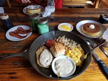 Davy Crockett Skillet Breakfast Gatlinburg royalty-vrije stock fotografie