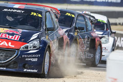 Davy JEANNEY Peugeot 208 Κόσμος FIA της Βαρκελώνης Στοκ Εικόνες