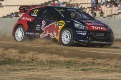 Davy JEANNEY Peugeot 208 Barcelona FIA świat Obraz Stock