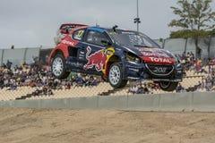 Davy JEANNEY Peugeot 208 Barcelona FIA świat Rallycross Zdjęcie Royalty Free