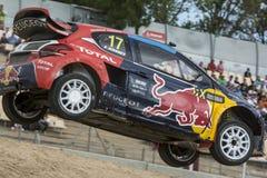 Davy JEANNEY Peugeot 208 Barcelona FIA świat Rallycross Fotografia Stock