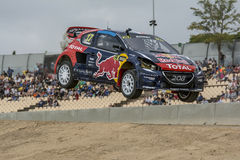 Davy JEANNEY Peugeot 208 Barcelona FIA World Rallycross Royalty-vrije Stock Foto