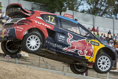 Davy JEANNEY Peugeot 208 Barcelona FIA World Rallycross Stock Fotografie
