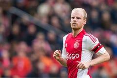 Davy Klaassen av Ajax Arkivfoton