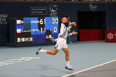 davydenko nikolay gracza Rus tenis obraz stock
