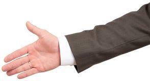 Dawać męskiej ręce w garniturze zdjęcia royalty free