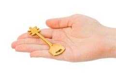 dawać ręka kluczowi Obraz Stock