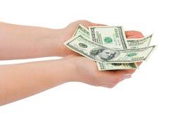 dawać ręka pieniądze Zdjęcie Stock