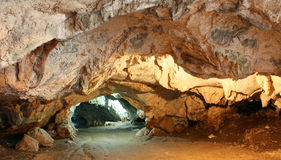 Dawamat cave or grotto Stock Photos