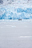 The Dawes Glacier. In the Endicott Arm of Alaska Royalty Free Stock Photo