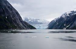 The Dawes Glacier. In the Endicott Arm of Alaska Royalty Free Stock Images