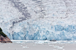 The Dawes Glacier. In the Endicott Arm of Alaska Stock Photography