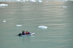 Dawes Glacier. Cruising through Endicott Arm to the Dawes Glacier in Alaska, USA Stock Photo