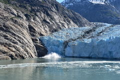 Dawes Glacier. Cruising through Endicott Arm to the Dawes Glacier in Alaska, USA Stock Photos