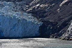 Dawes Glacier. Cruising through Endicott Arm to the Dawes Glacier in Alaska, USA Stock Image