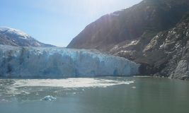 Dawes Glacier. In Endicott Arm, Alaska.  From the deck of an Alaska cruise ship Royalty Free Stock Image