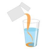 Dawka proszek z witaminą C nalewa z pakunku int ilustracji