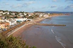 Dawlish Devon England uk English coast town with beach Stock Images