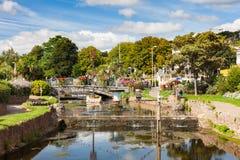 Dawlish Devon England UK. The river flowing through the town of Dawlish Devon England UK Europe royalty free stock photo