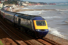 The Dawlish train Stock Photo