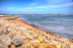Dawlish Warren beach Devon England on a summer day in HDR Stock Photography