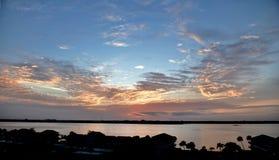 Dawn's Wcześnie Zaświeca Nad Clearwater schronieniem zdjęcie stock