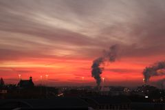Dawn στο Λιντς στοκ εικόνα με δικαίωμα ελεύθερης χρήσης