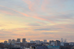 Dawn πέρα από την πόλη Στοκ εικόνες με δικαίωμα ελεύθερης χρήσης