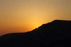 Dawn πίσω από την κλίση κλίμακας Corno alle στοκ εικόνες με δικαίωμα ελεύθερης χρήσης
