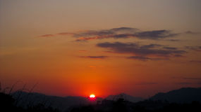 Dawn σε itanagar, Arunachal Pradesh Στοκ εικόνες με δικαίωμα ελεύθερης χρήσης