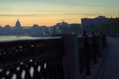 Dawn στην αποβάθρα Στοκ Φωτογραφίες