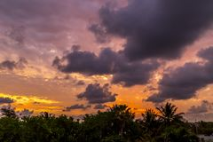 Dawn στην Κούβα Στοκ φωτογραφία με δικαίωμα ελεύθερης χρήσης