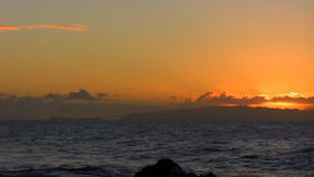 Dawn στην παραλία απόθεμα βίντεο