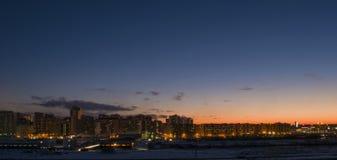 Dawn στην πόλη Στοκ Εικόνες