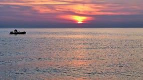 Dawn στη Μεσόγειο Στοκ εικόνα με δικαίωμα ελεύθερης χρήσης