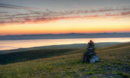 Dawn στις στέπες Khakassia Στοκ Εικόνα
